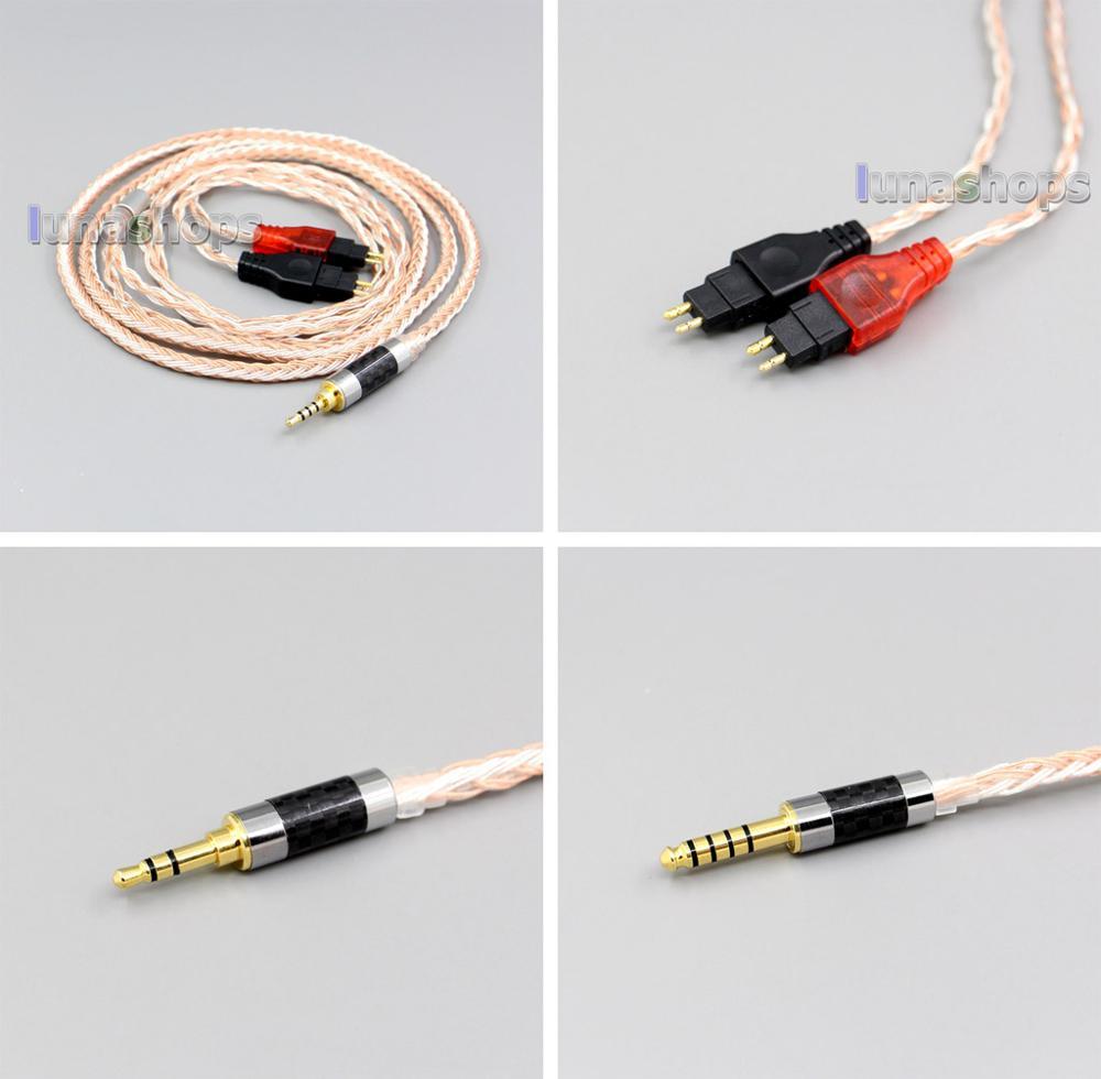 XLR 16 noyaux OCC argent plaqué câble casque mixte pour Sennheiser HD25-1 SP HD650 HD600 HD580 HD525 LN005980