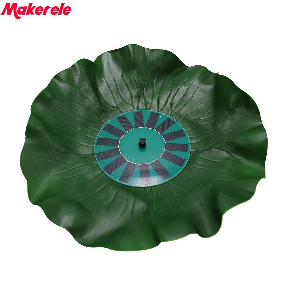 4.5-10VDC lotus leaf floating fountain Pump Solar Power landscape handicrafts decorate water scene 1.4W 150 l/h