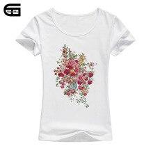 Female T Shirt 2018 Summer Hot Sale Rose Flower Print Kawaii Fashion Streetwear Brand T-shirt For Women Cotton Tops B112