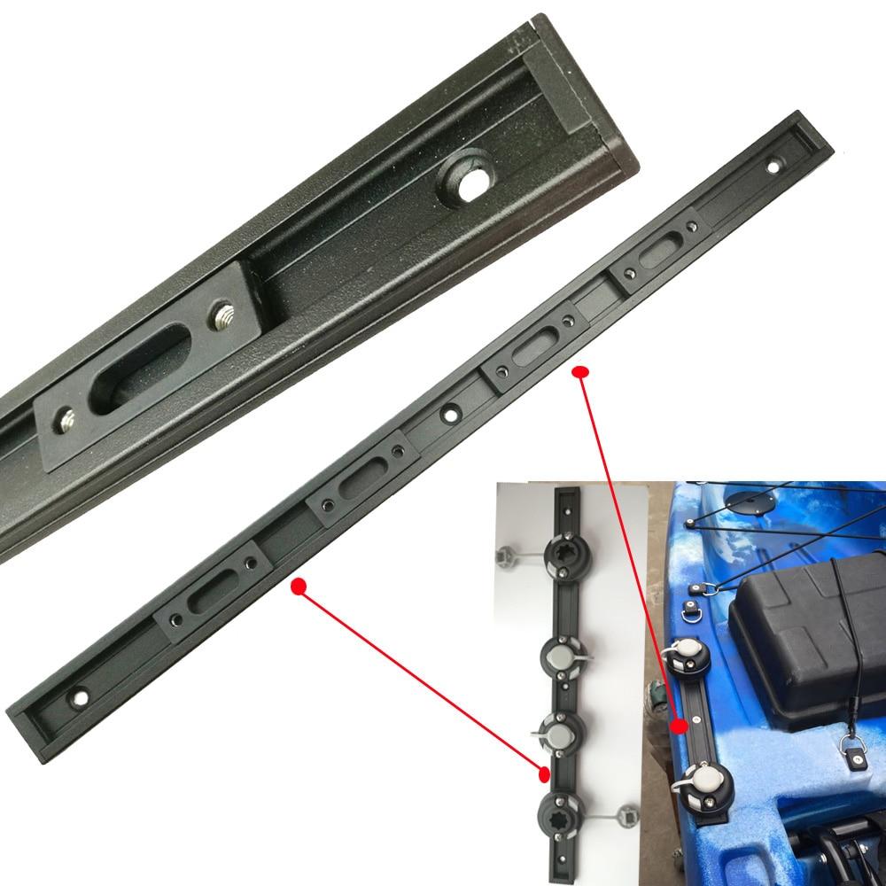 550mm Aluminum Kayak Slide Track Rails Bracket DIY Accessories Fishing Rod Holder Mounting Base Rack Tackle Kit