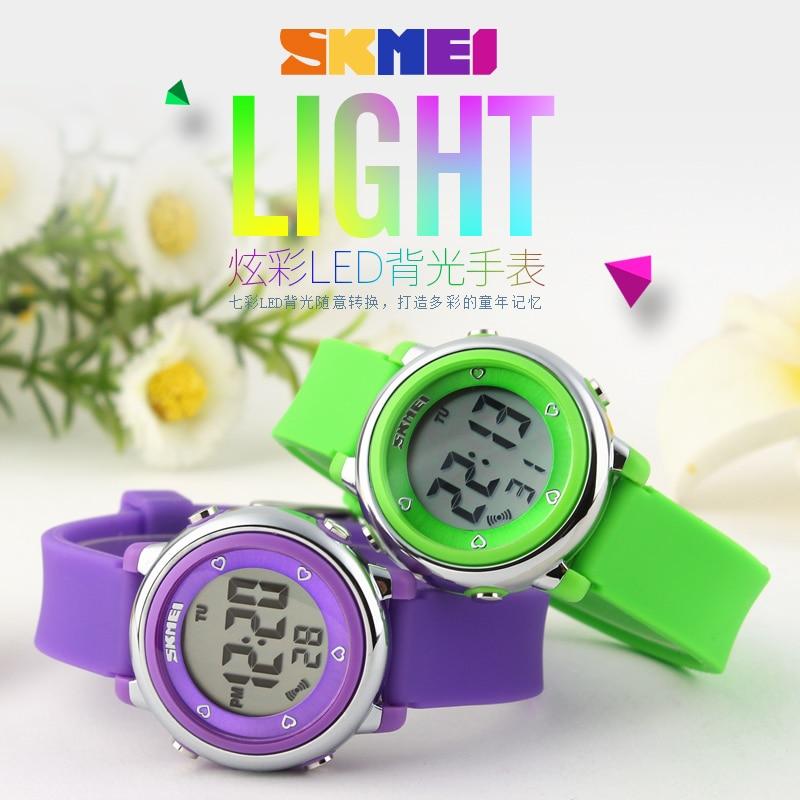 2018 SKMEI Children watch LED Digital Sports Watches Relojes Boys girls fashion Kids Cartoon Jelly Waterproof Wristwatches