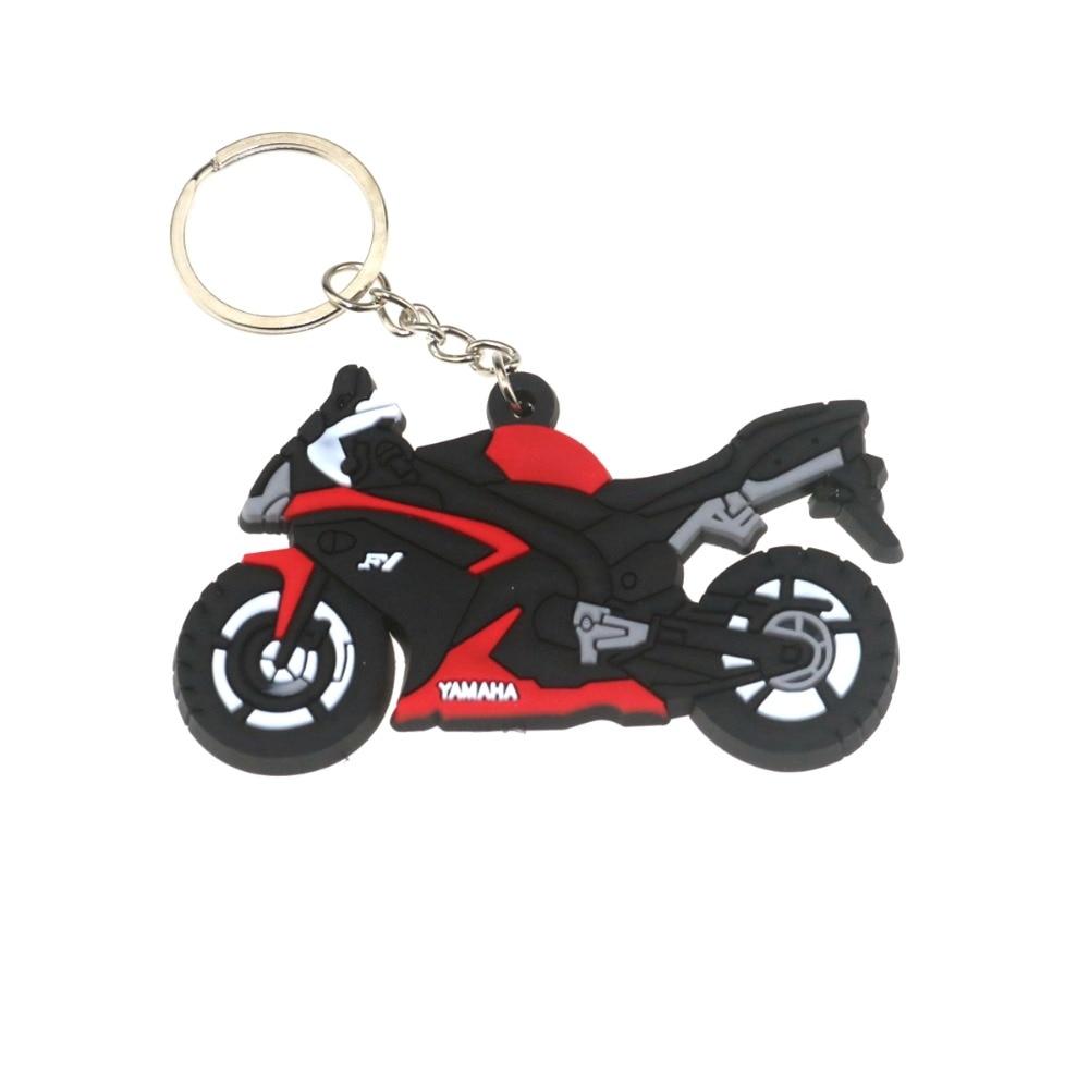 LLavero de goma 3D para motocicleta, accesorios para motocicleta, llavero para motocicleta para YAMAHA R1, modelo de locomotora