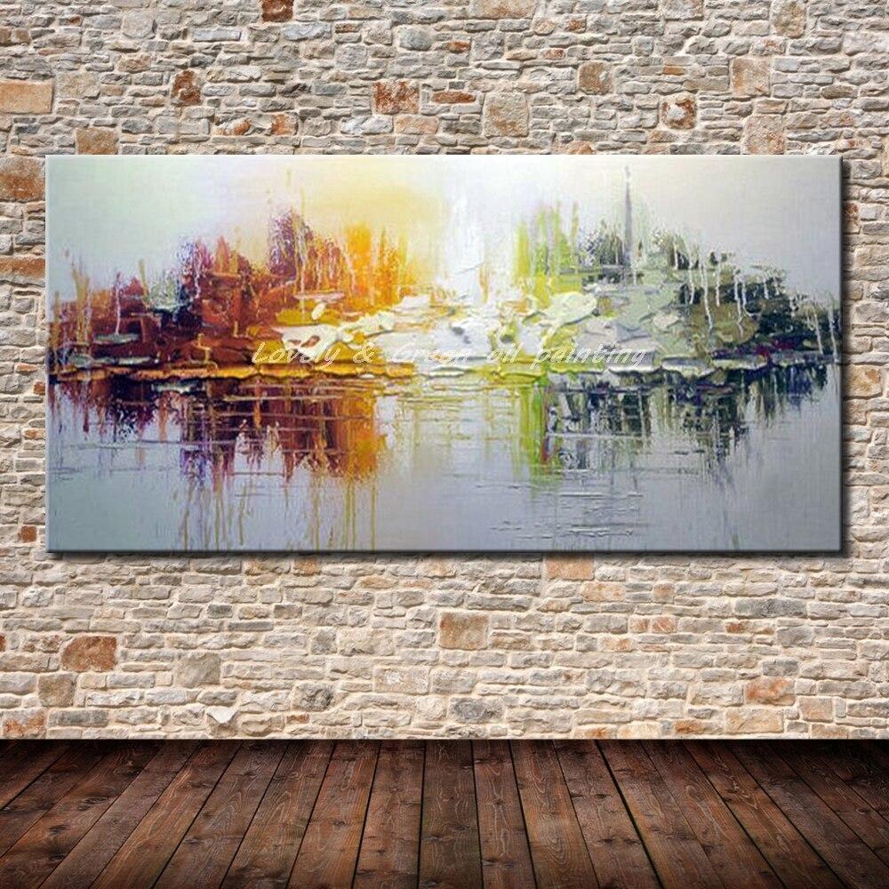 Cuadros Arthyx pintados a mano Pintura Al Óleo Abstracta moderna sobre lienzo cuadro de Arte de pared para sala de estar decoración Hotal para el hogar mejor regalo