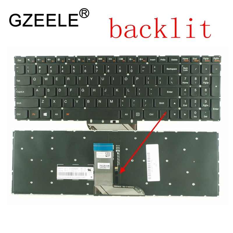 GZEELE US Laptop Keyboard For Lenovo IdeaPad 700-17ISK 700-17 700-15 700-15ISK 700S-15 700S-15IKB flex3 1570 Series with backlit
