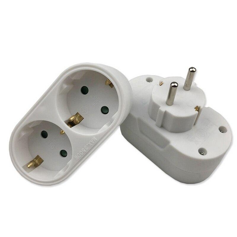 New 2/3 Socket Multiple Plug Power Strip Socket Distribution Adapter 16A/250V German Standard Power Supply Plug Adapter