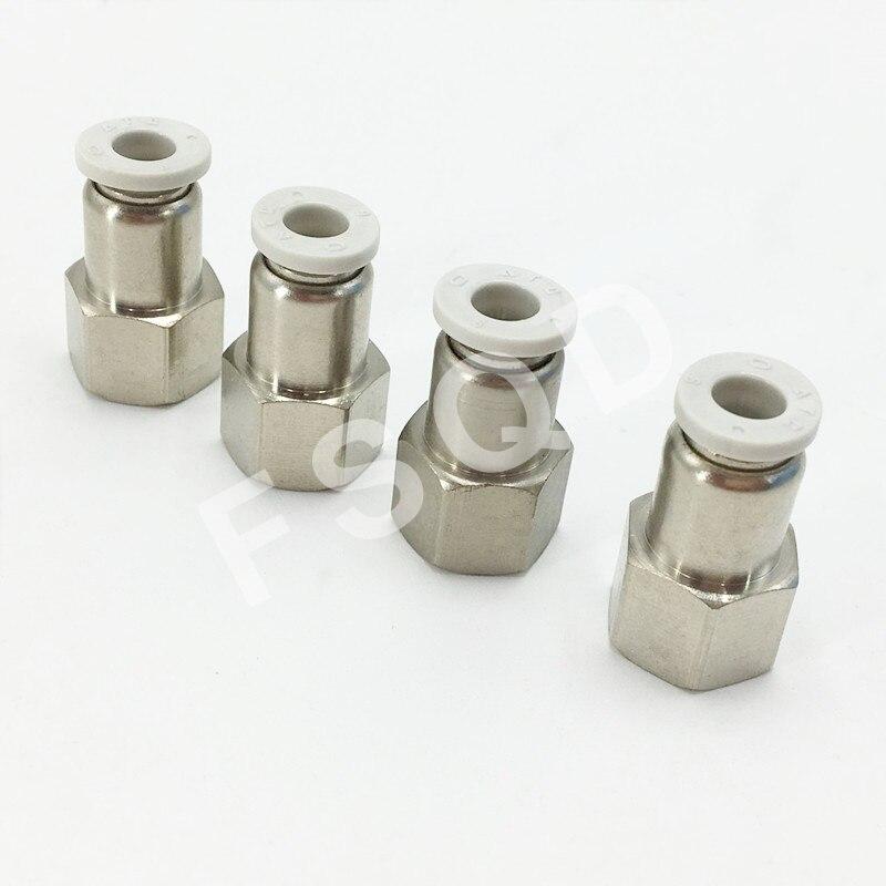PCF8-01 PCF8-02 PCF8-03 PCF8-04 junta rápida de airtac para componentes pneumáticos internos do conector da linha do parafuso