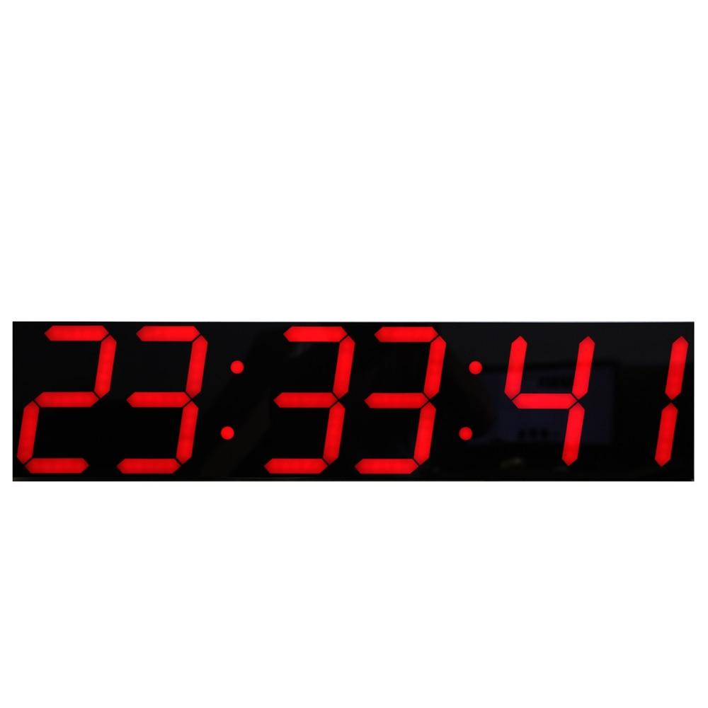 Большие светодиодные цифровые настенные часы с пультом дистанционного управления, большой температурный дисплей с календарем, Поддержка о...