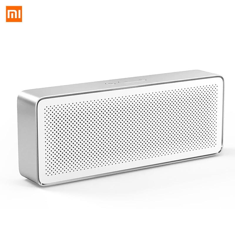 Alto-falante portátil xiaomi, som estéreo, original, bluetooth, caixa quadrada, 2 v4.2 1200mah, aux line-in, mãos-livre com microfone