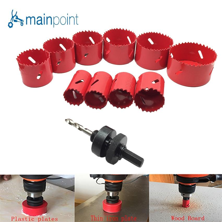 Mainpoint HSS bimetaliczne M3 frez 32-76MM wiertło z węglika dla do obróbki metalu do cięcia metalu ze stali aluminium, żelazo drewna narzędzia ręczne