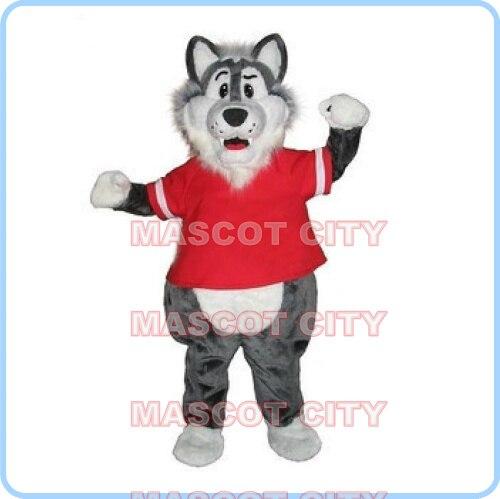 Mascote mau cinza lobo mascote traje dos desenhos animados veado personalizado anime cosplay kits mascotte fantasia vestido carnaval traje 2549