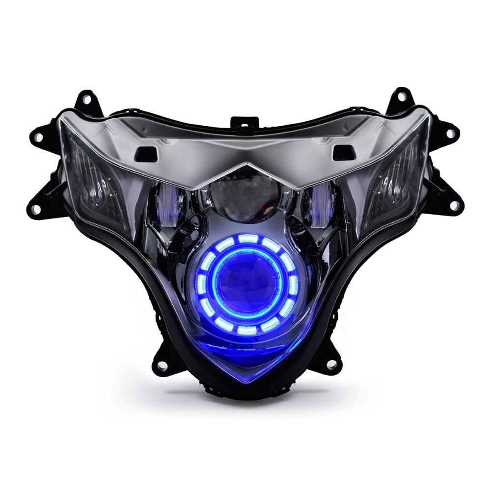 KT كامل LED دراجة نارية مجموعة مصابيح أمامية مصابيح أمامية لسوزوكي GSXR1000 GSX-R1000 2009-2016 الانتهاء ضوء أحمر أزرق أبيض 15