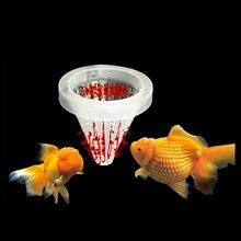 Hauteur 6.7cm Aquarium panier mangeoire nourriture pour poissons ver vivant ver de sang ange cône alimentation outil Dia 6.8cm