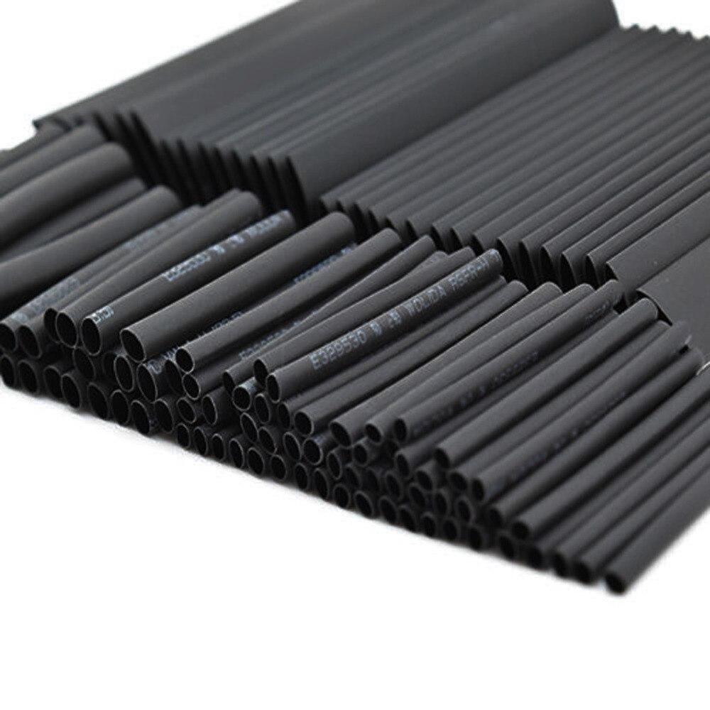 Новая горячая продажа 127 шт 7,28 м черный 2:1 ассортимент термоусадочная трубка Автомобильный Кабель обмотки провода набор полезные электрические трубки