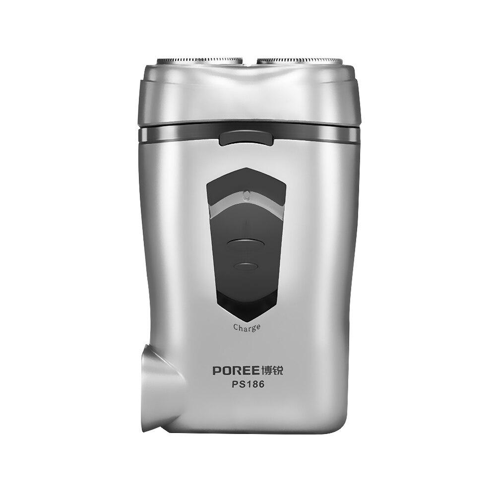 PS186 Серебряная Бритва для бороды Rasoir Electrique Homme 3D с двойным лезвием, электрическая влажная сухая бритва Rasoir Electrique Homme