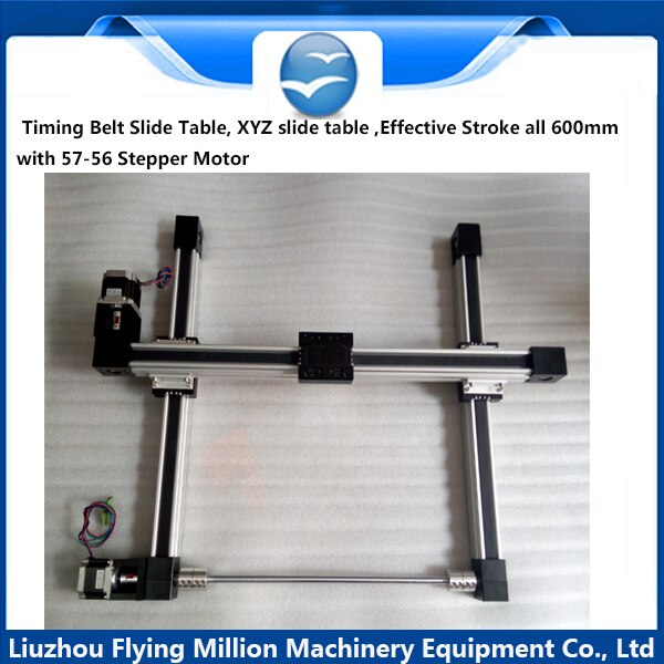 Heterosexual screw precisión lineal módulo XY57 motor paso a paso para correas síncronas tabla
