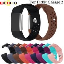 Цветной ремешок для Fitbit Charge 2 спортивные силиконовые браслеты ремешок для Fitbit Charge2 браслет умные часы аксессуары
