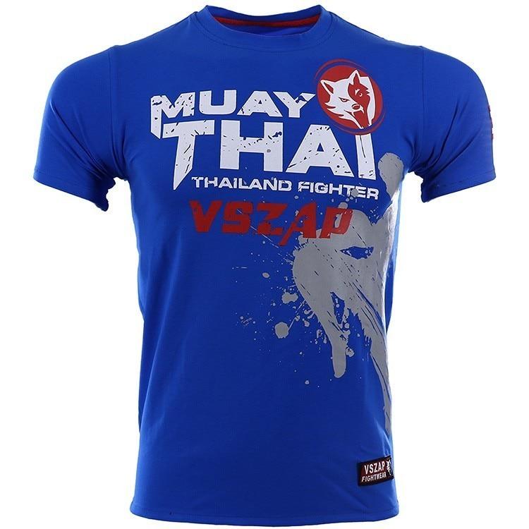 VSZAP Bangkok Muay Thai T Shirt Men Homme Boxing MMA T Shirt Gym Tee Shirt Fighting Fighting Martial Arts Fitness Training