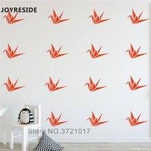 Joyrest-autocollant mural en vinyle   Autocollant en Origami, décoration murale en vinyle, décor de maison, pour enfants et chambre à coucher, Design dintérieur A926
