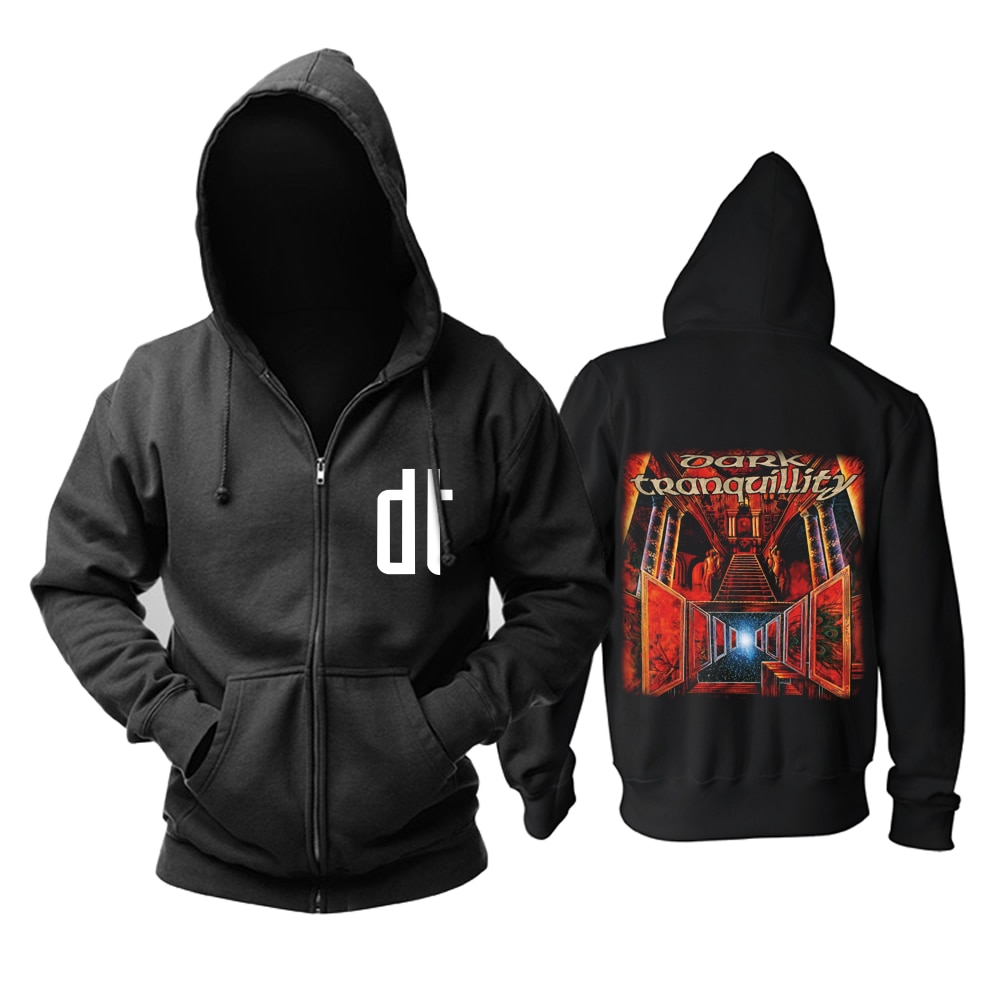 Bloodhoof oscuro tranquilidad banda Negro Metal Heavy Metal que el vacío negro con capucha tamaño asiático