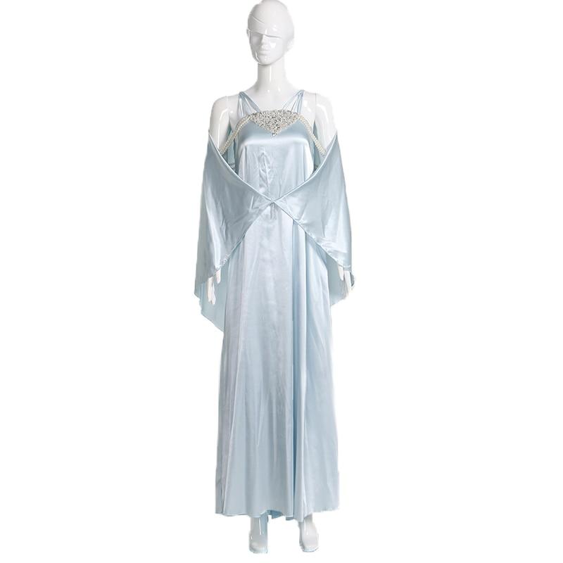 Nova star wars rainha padme naberrie amidala dormir vestido cosplay traje