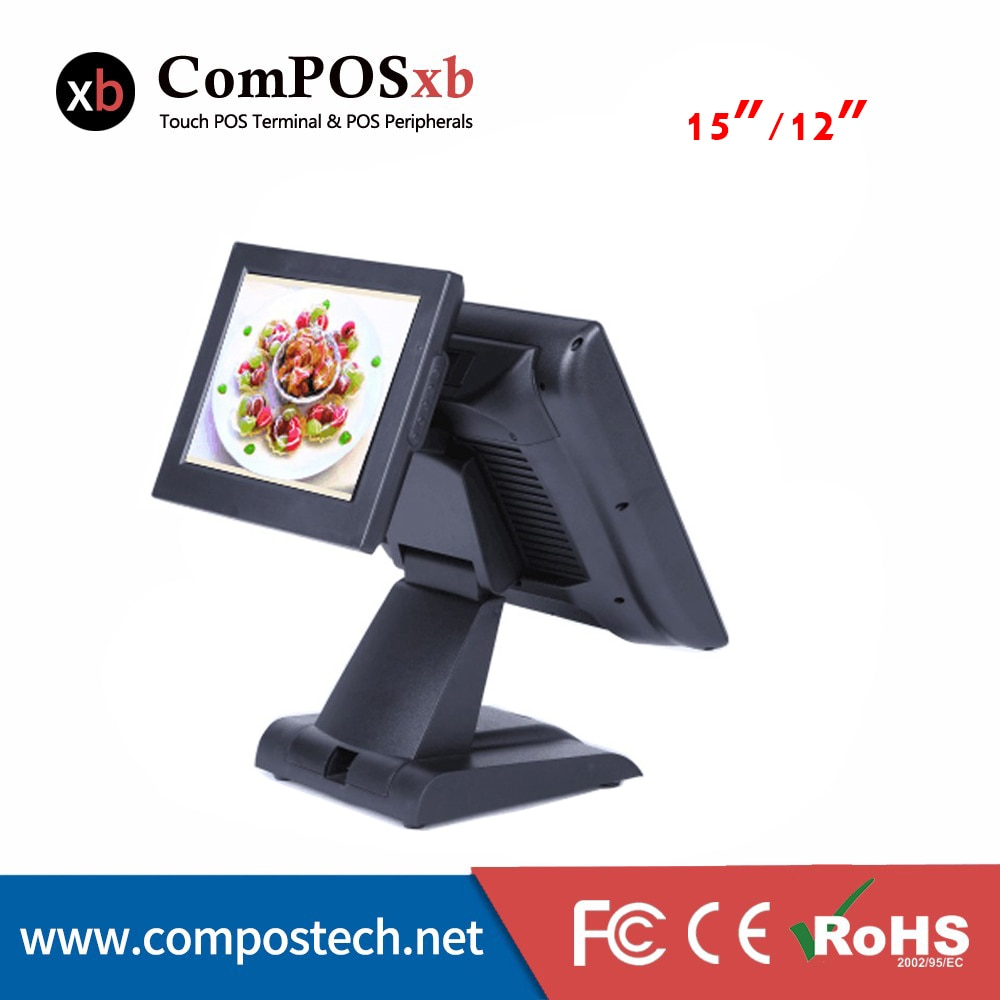 Windows  pos systems Resistive Touch Screen 15 Inch  POS All In One PC cash register