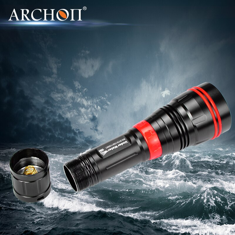 Original ARCHON DY01 1000 lumens 6500k CREE XP-L LED Diving Flashlight Torch Light with 100M with 26650 Battery and Charger enlarge