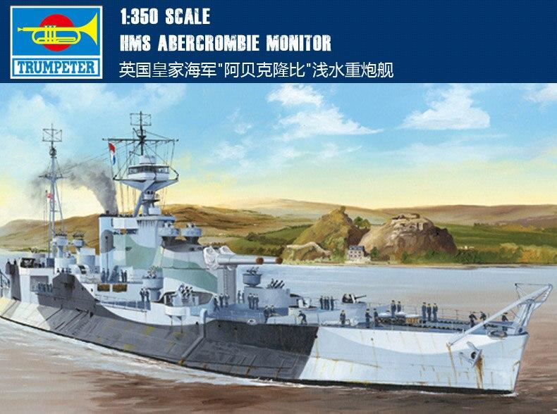 Trompeta 1/350 Navy real, barco de artillería pesada Abercrombie