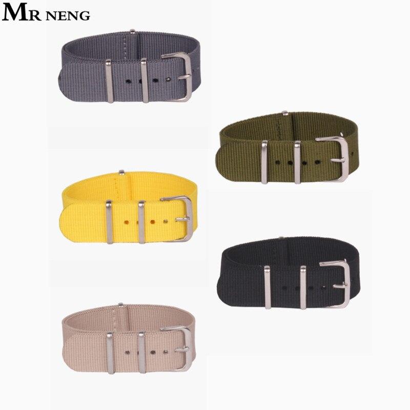 Лидер продаж! Водонепроницаемый нейлоновый ремешок для часов, черный, зеленый, 12 мм, 14 мм, 16 мм, 18 мм, 20 мм, 22 мм