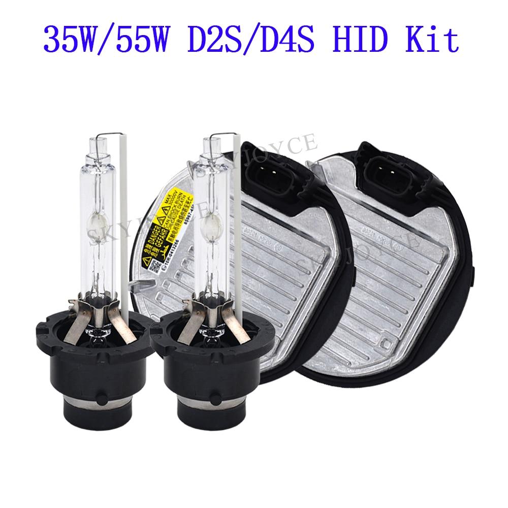 SKYJOYCE 55 watt hid D2S D4S HID Scheinwerfer Kit Original 35 watt D2S D2R 4300 karat 6000 karat D4S D4R HID Birne OEM HID Ballast D2S D4S ersatz