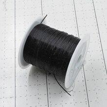 Noir 10M/Roll coloré extensible corde élastique corde corde de cristal pour la fabrication de bijoux perles Bracelet fil pêche fil corde