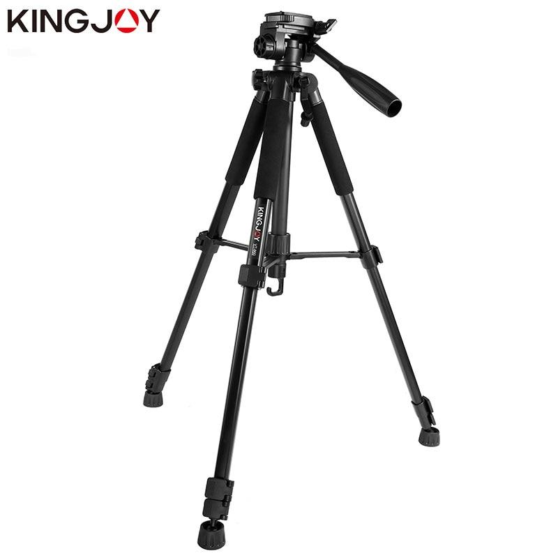 KINGJOY Officia VT-860 Video Tripod Kits Camera Stand Profesional Aluminum Alloy For All Models Flexible Portable Stativ Holder