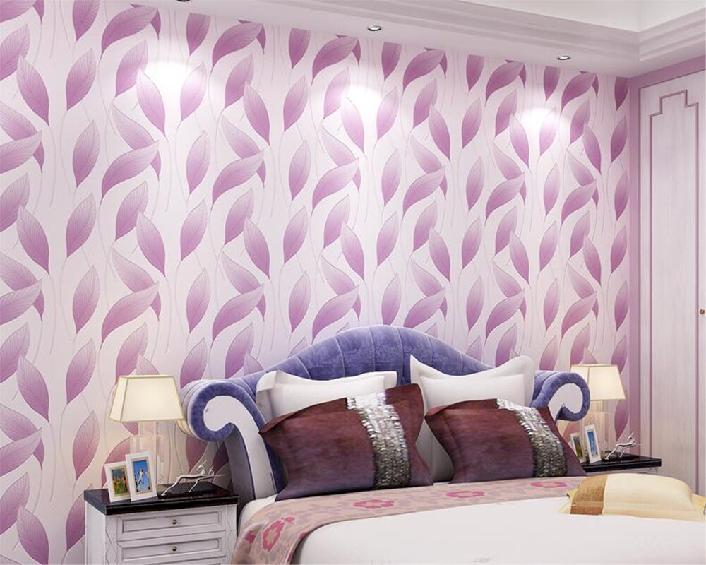 beibehang Fashion Modern 3D Relief Leaves Nonwovens Wall paper Living Room Bedroom TV Background papel de parede 3d Wallpaper