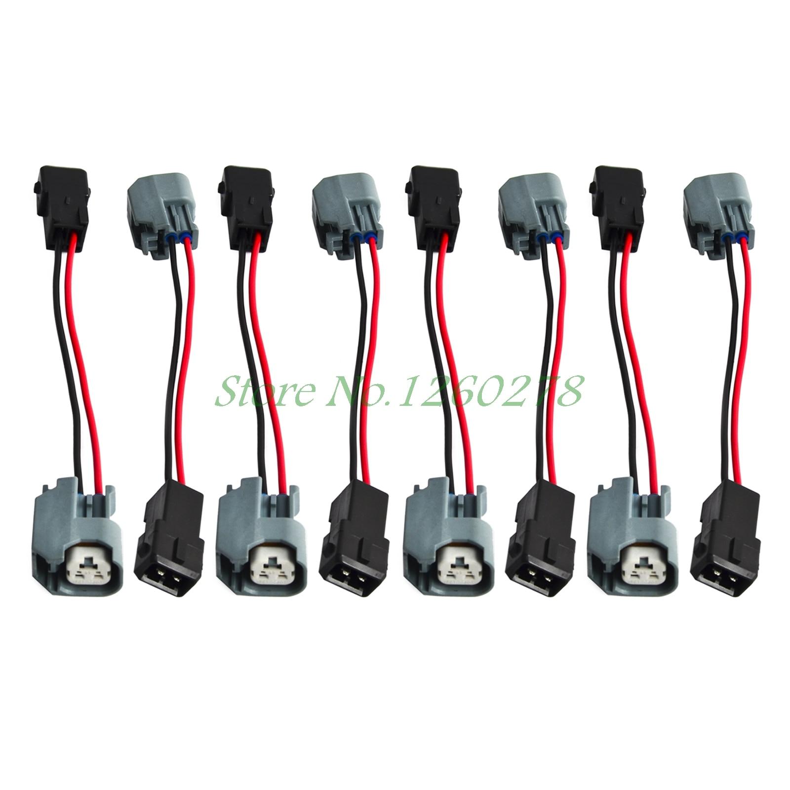 Motor del inyector de combustible arnés de cable adaptador de conectores para 8-LS1 LS6 LT1 EV1 motor con LS2/LS3/LS7 (EV6)