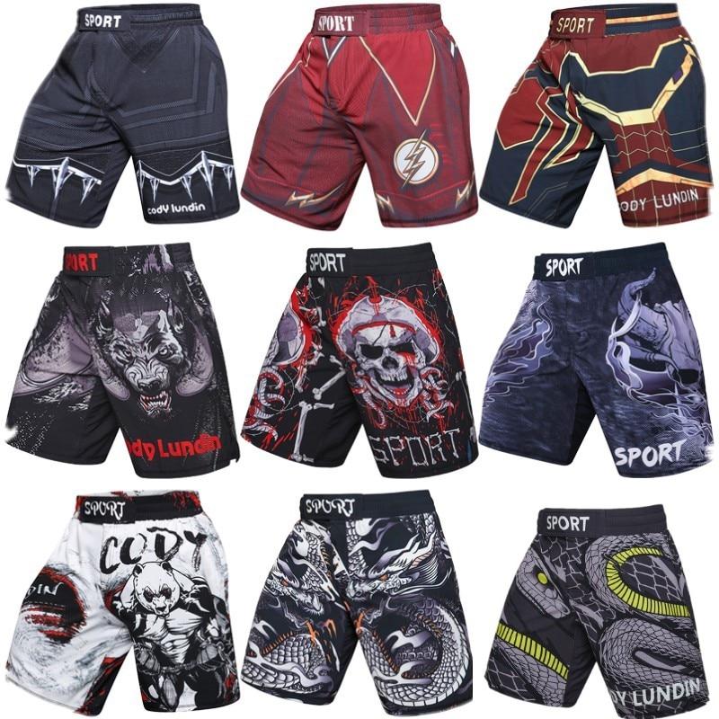 2 teile/paket training Muay Thai kampf fitness Kampf sport hosen Tiger Muay Thai boxen kleidung shorts mma pretorian boxeo