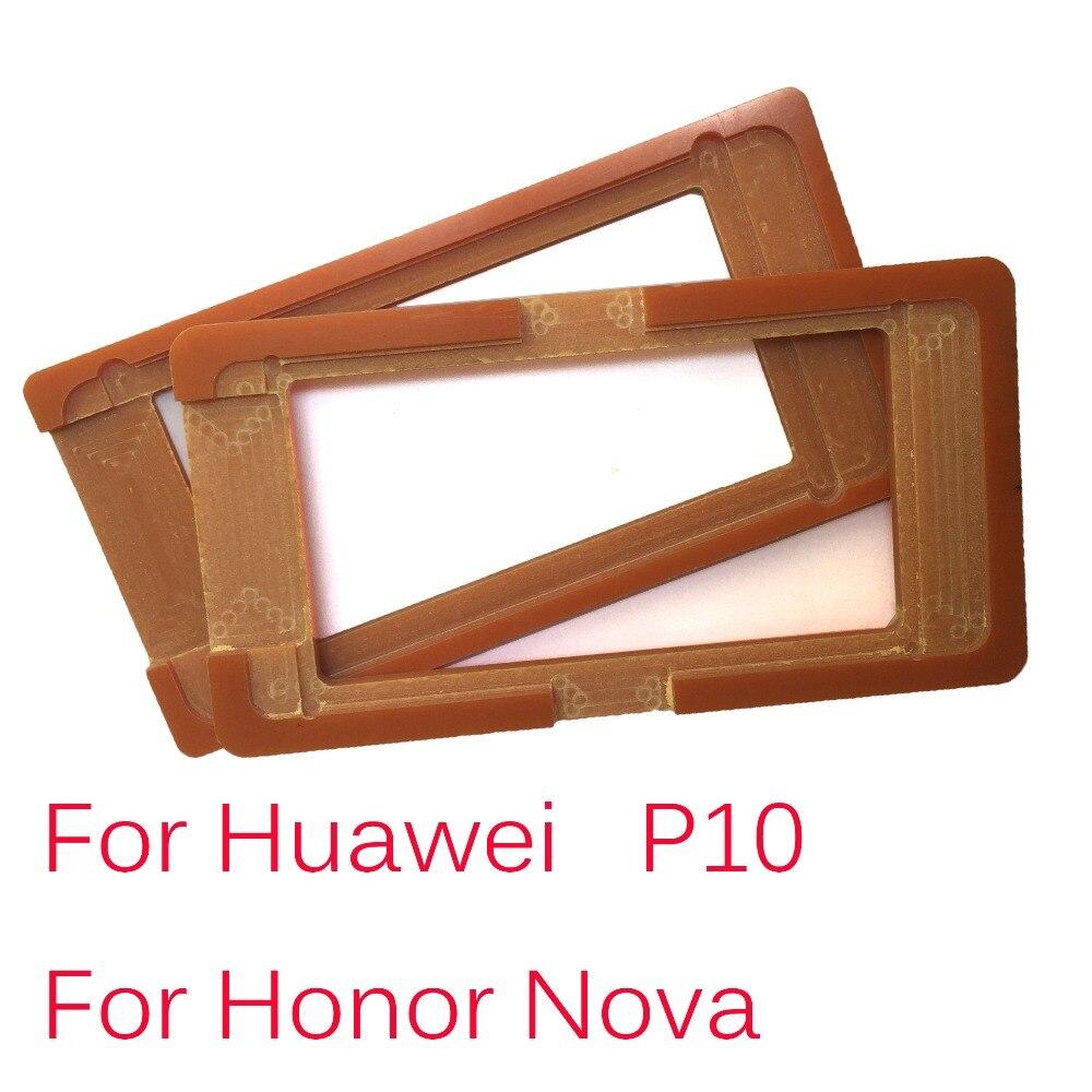 1 Uds PF pegamento molde pantalla LCD soporte de vidrio molde para P10 Honor Nova oca moldes para Huawei Ascend P10 Honor Nova