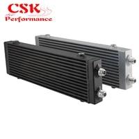 universal dual pass bar plate oil cooler 18 5x5 5x1 58 core large blacksliver