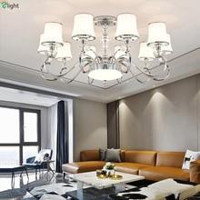 Moderne Chrome métal Led lustre éclairage salon verre pendentif Led lustres lumières salle à manger suspendus luminaires