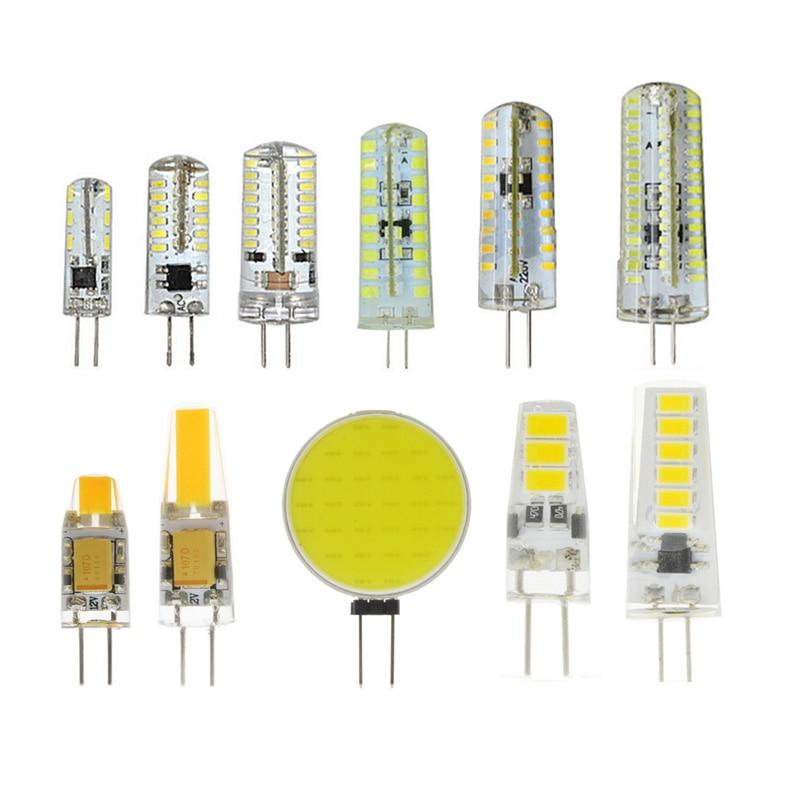 1Pcs 220V G4 Bombillas LED Lights For Home Led G4 12v AC&DC 3014 5730 2835 COB Lamparas Led Light Bulb Lighting Spotlight