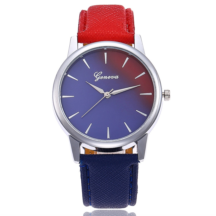 2019 Fashion WristWatch Retro Rainbow Design Women Dress Watch Quartz Leather Watches gift for lover