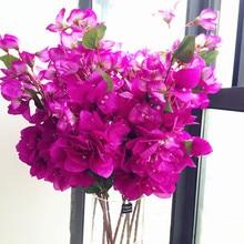 "6pcs Silk Bougainvillea Tree Branches Artificial Hot pink color Fake bougainvillea spectabilis willd Flower 31.5"""