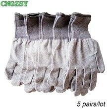 5 пар износостойких нейлоновых перчаток из углеродного волокна для автомобиля, обертывание, Тонировка окон, вспомогательные инструменты, вязаные перчатки 5D08