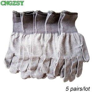 Image 1 - 5 пар износостойких нейлоновых перчаток из углеродного волокна для автомобиля, обертывание, Тонировка окон, вспомогательные инструменты, вязаные перчатки 5D08