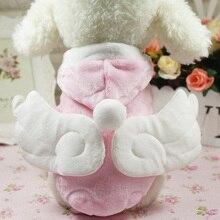 D86 Nieuwe collectie Angel Hond Kleding Warme Winter Kleine hond Kat Coat Zachte Fleece Leuke Roze Puppy Yorkie Hoodie kleding