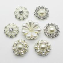 YWXINXI Direkt Verkäufe 10 teile/los Mehrere Größen Vergoldung Acryl Glas Strass Taste Handwerk Nähen Zubehör