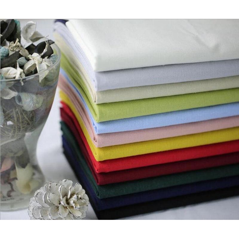 Quality Soft Linen Cotton Fabrics For DIY Sewing Dress Shirt Handmade Hometextile Cloth 135cm Width 1 Meter 12 Colors to Choose