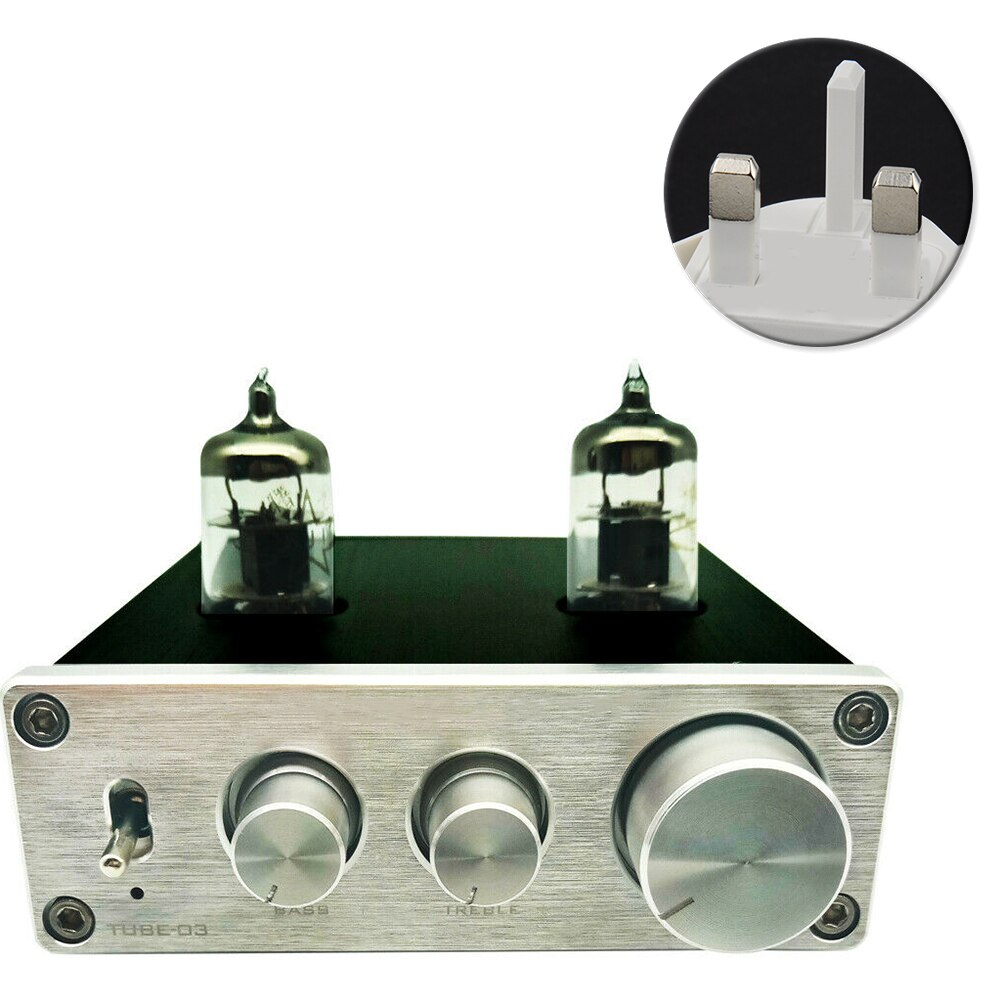 Fone de ouvido tubo 6k4, pré-amplificador de alumínio