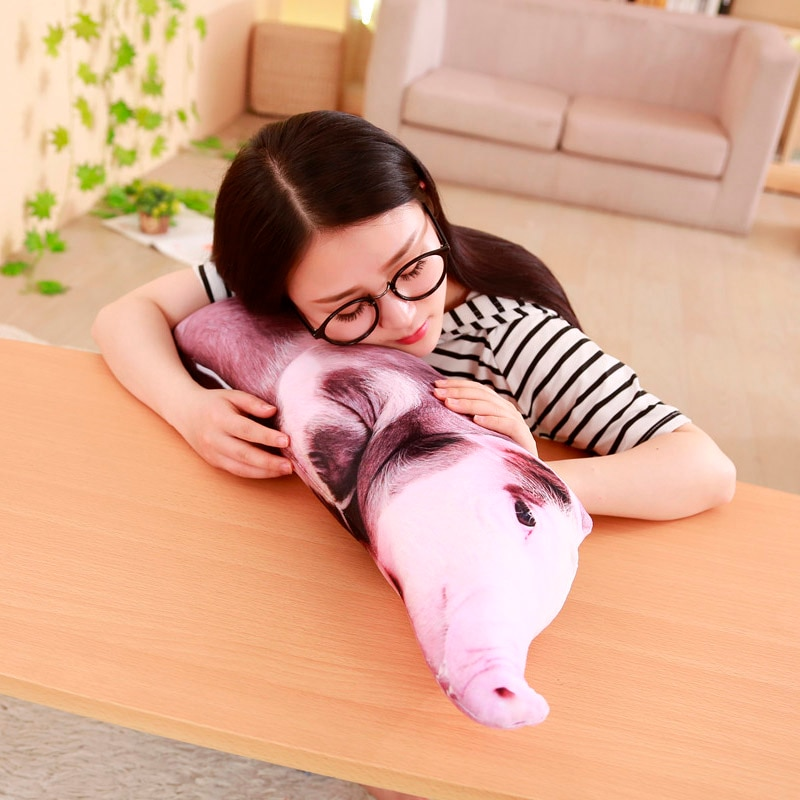 2018 Creative 3D Simulation Pig Pillow Doll Plush Doll & Vivid Stuffed Toy home embrace pillow 50/70cm  - buy with discount