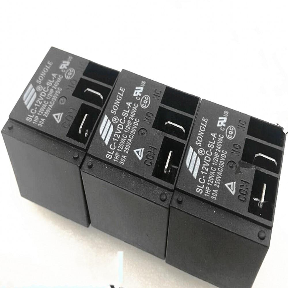 10 قطعة/الوحدة الطاقة التبديلات SLC-05VDC-SL-A SLC-12VDC-SL-A SLC-24VDC-SL-A 30A T91 HF2100 4PIN مجموعة من عادة مفتوحة