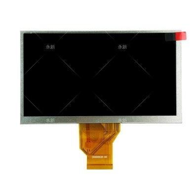 Nueva pantalla LCD para tableta A73HD de 7 pulgadas, 50 pines AT070TN90 V.0 V.1 9 pulgadas AT090TN10 20000938-00-30, pantalla GPS para coche