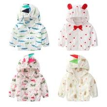Verão ao ar livre proteção solar casacos de pele para meninas meninos roupas bonitos crianças casacos bebê anti-uv blusão crianças outerwear
